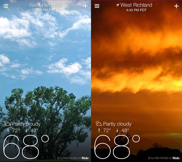 Fun = Seeing my Photos in Yahoo's Weather App