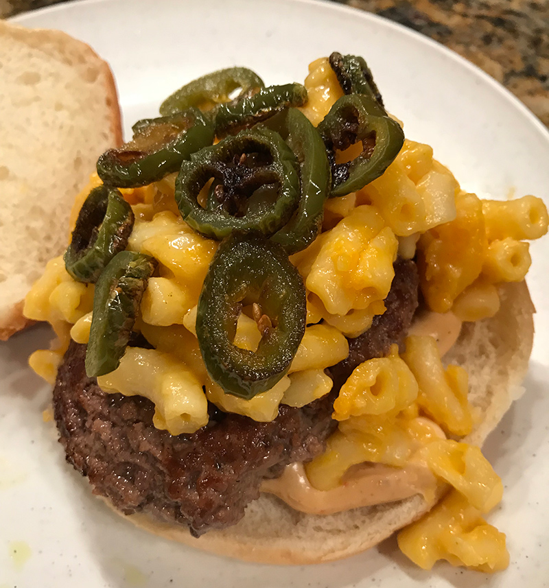 Burger #3 – The Macapeno (and the cooking process)